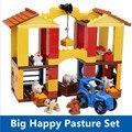Развивающие игрушки - самоконтрящаяся кирпичи большой днем скотный двор комплект качество ABS большие строительные блоки