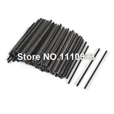 200pcs 2.54mm Spacing 40 Way Straight Male Pin Header Connector Strip 18 pin way male