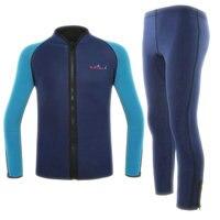 Nw Adult Men 2mm Split Two Piece Wet Diving Suit Snorkeling Clothing Surf Clothing Pant Suit
