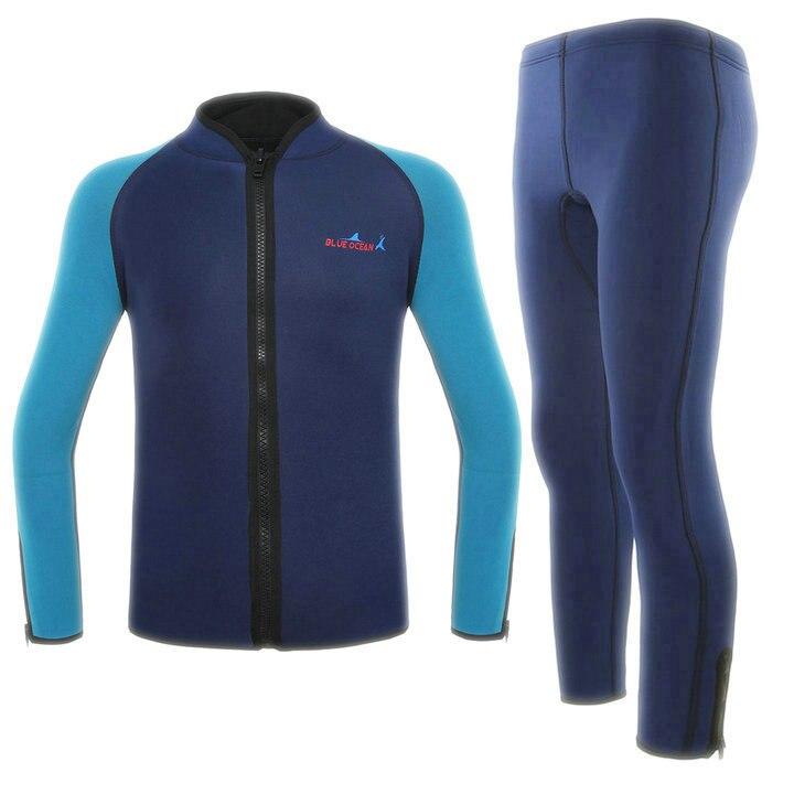Nw adult Men 2mm split two-piece wet diving suit snorkeling clothing / surf clothing pant suit two piece one set saucony men s inferno split shorts