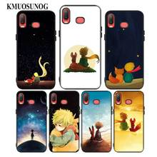 For Samsung A6S A8S A6 A7 A8 A9 A5 A3 Star Plus 2018 2017 2016 Black Silicon Phone Case The Little Prince With the fox Style
