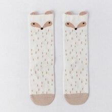 Leg-Warmer Boot-Socks Baby Girls Knee-High School Kids Cotton Cute Boy for 0-5y Black