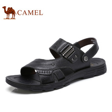 Camel Men's Shoes 2017 Summer New Daily Casual Leather Sandals Exposed Toe Beach Shoes Men's Sandals A722211362
