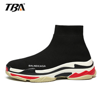 2018 Fly Weaving Men Casual Shoes Colorful Slip On High Top Sock Shoes Lightweight Men Sneakers Sapato Masculino