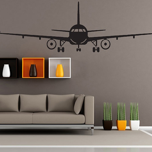 Buy 3d airplane different sizes wall for Different home decor