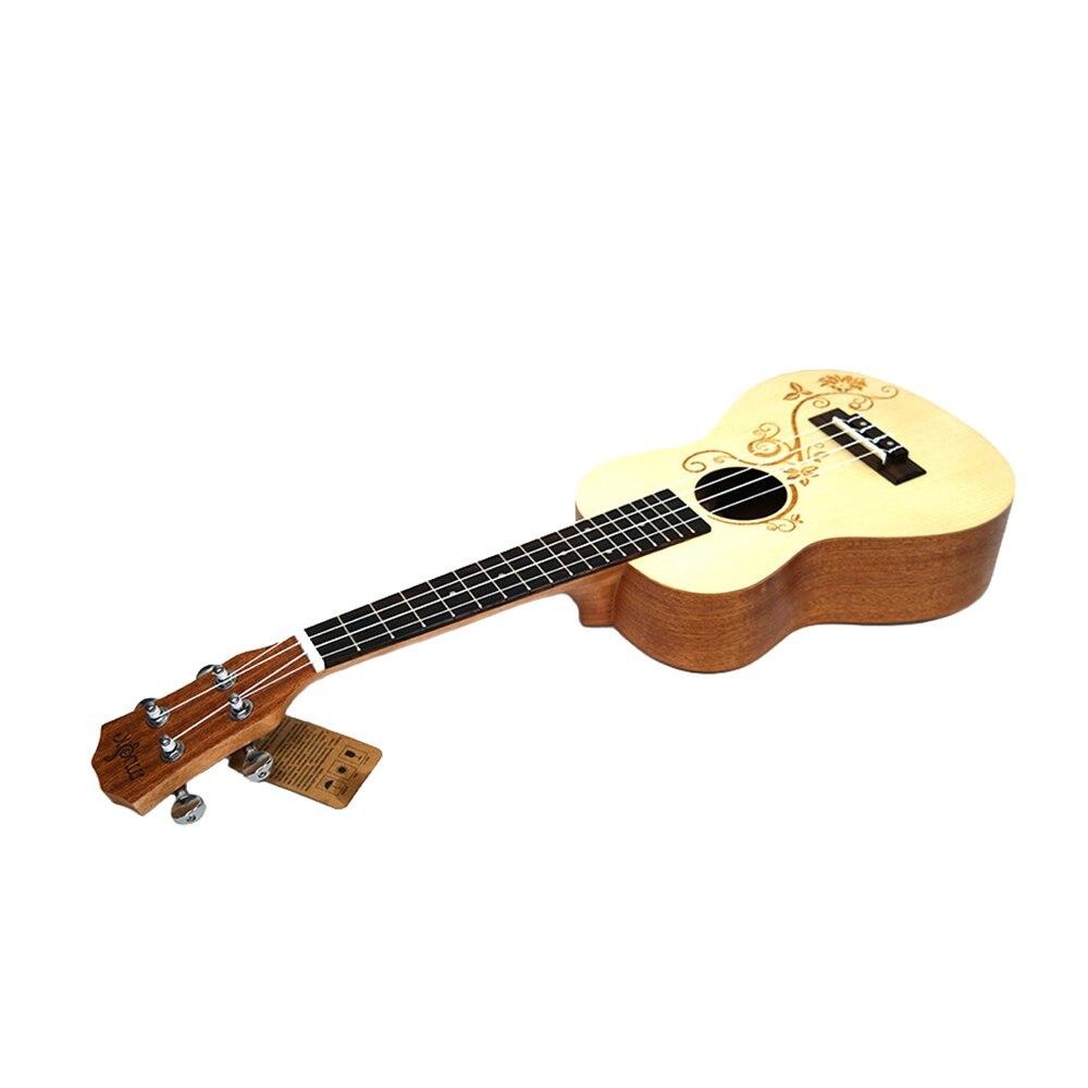 Нейлоновая 4 струнная концертная банджо 26 дюймов Уке укулеле бас гитара ra для музыкальных струнных инструментов подарок для влюбленных - 6