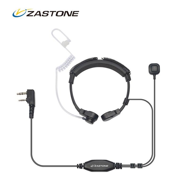 Flexible Throat Mic Microphone Covert Acoustic Tube Earpiece Headset For Baofeng Kenwood Headset TK Protable Radio Walkie Talkie