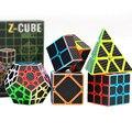 5 pz/set Colorato In Fibra di Carbonio Set Cubo Magico 3x3x3 Velocità Di Puzzle Triangolo Dodecaedro Asse Specchio Cube giocattolo per bambini