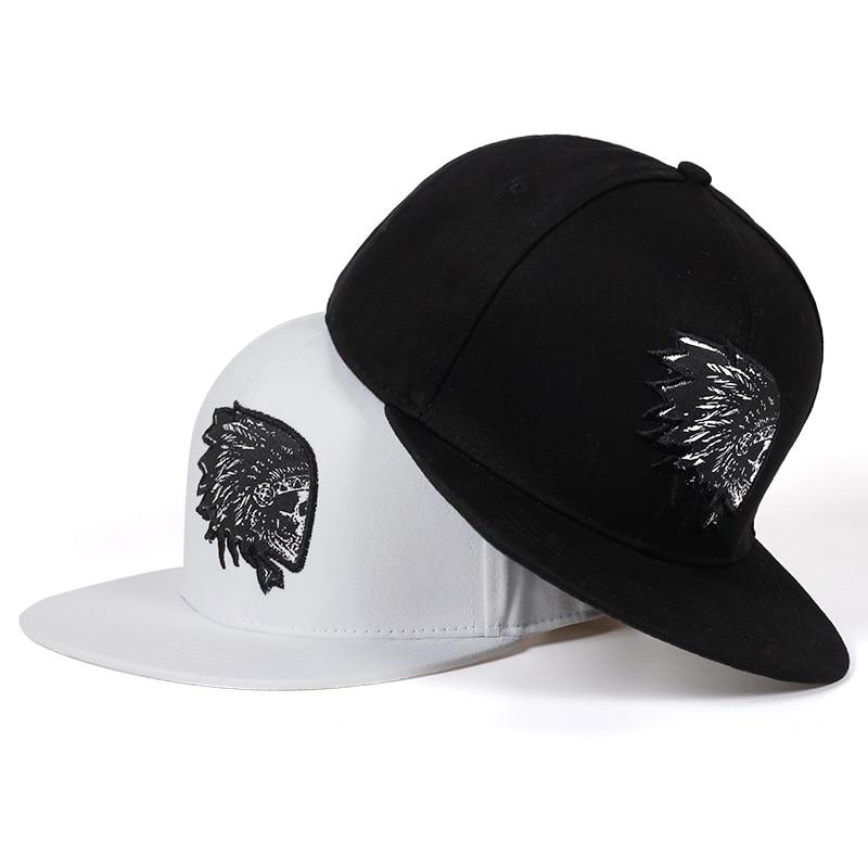 d5e002b61a6 new Embroidery Skull baseball caps hats hip hop snapbacks flat brim bones  gorra sports snapback caps. US  4.61