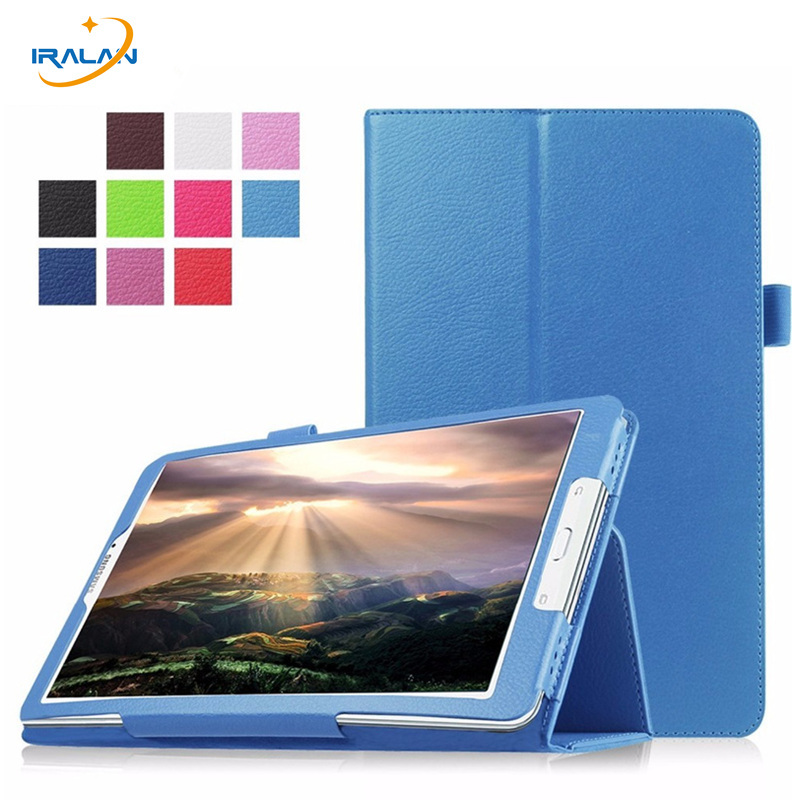 Складной флип Личи Стиль чехол для Samsung Galaxy Tab A A6 10.1 P580 p585 p580n с S Pen PU Стенд кожаный чехол кожи + Плёнки + ручка ...