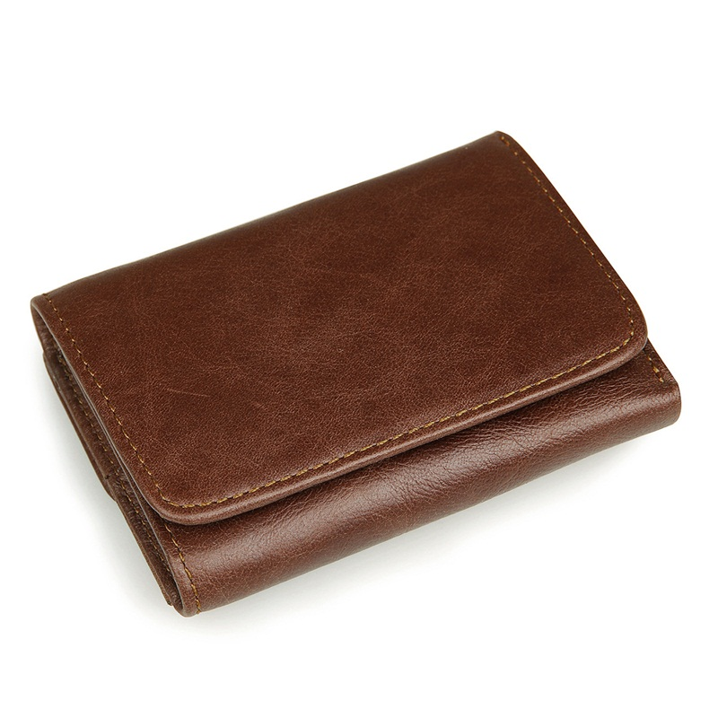 Vintage Genuine Leather Man Wallet Short Design Men wallets small Retro Luxury Purse Card Holder Coin Pocket