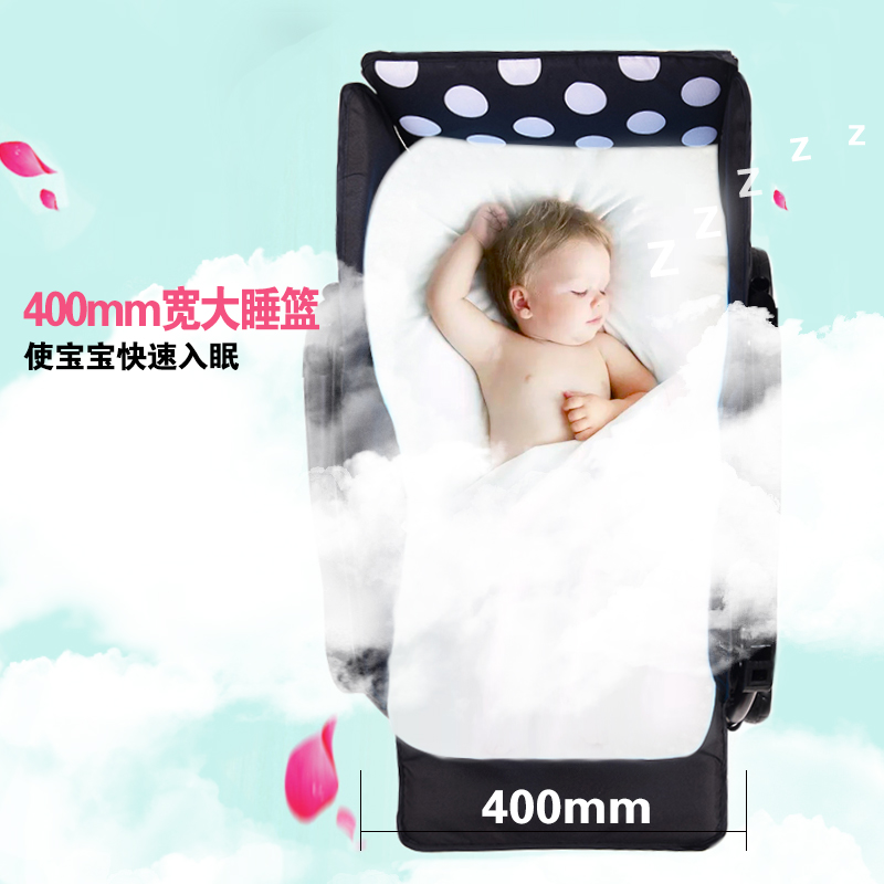 JIN BAO baby strollers can sit and recline can be folded two-way four-wheeled baby summer and winter dual-purpose trolley
