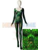 Quinn Mera Cosplay Costume 3D Printing Queen Mera Justice League Zentai Bodysuit Halloween Superhero jumpsuit Adult/Kids/Custom