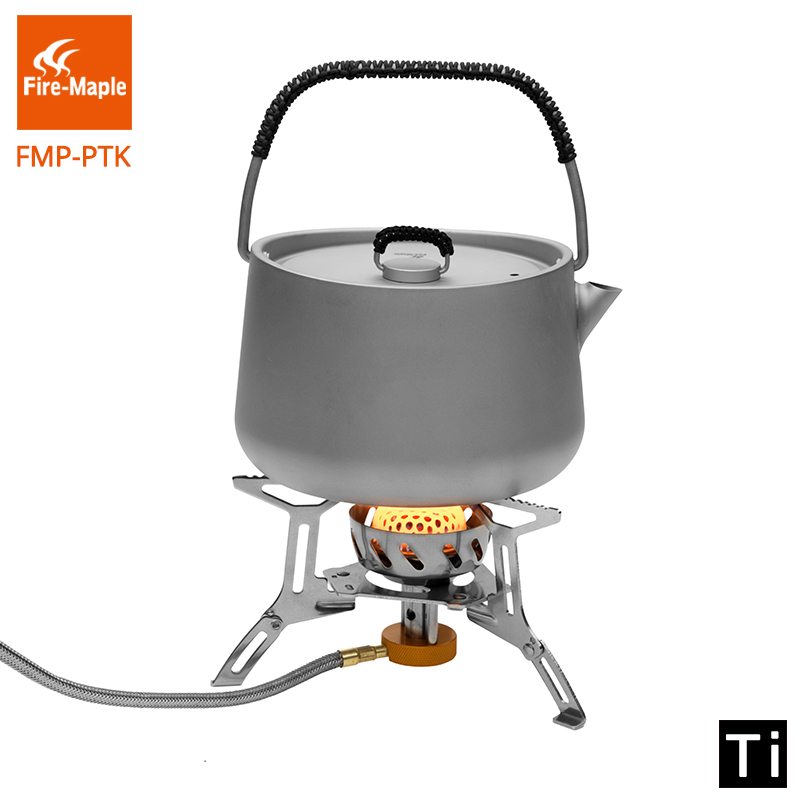 цена Fire Maple Bore Titanium Teapot Picnic 1L Coffee Tea Pot Ultralight Tea ceremony Outdoor Camping Kettle