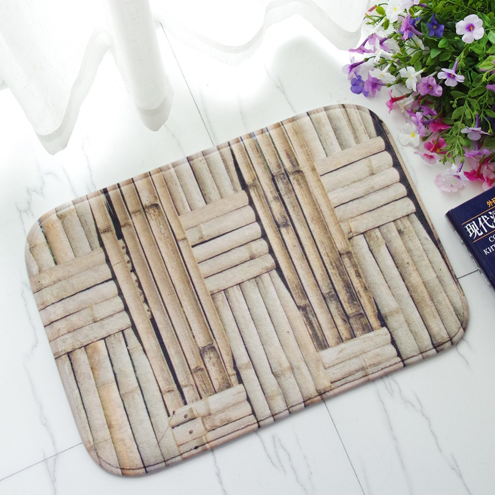MDCT 40x60cm Green Straw Knot Area Floor Mats Hallway Bathroom Doorway Kitchen Soft Mats Anti-Slip Entrance Area Rugs Tapete
