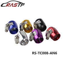 RASTP- AN6 16mm Fuel Hose Line End Cover Clamp Adapter Aluminum Anodize Fitting for Instrument Parts Accessories RS-TC008-AN6 недорого