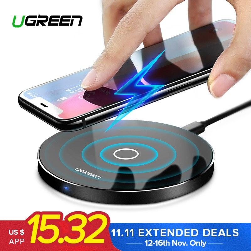 Ugreen Drahtlose Ladegerät für iPhone X 8 XS 10 watt USB Wireless Charging für Samsung Galaxy S8 S9 S7 Rand qi USB Drahtlose Ladegerät