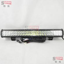 "23"" inch cree led light bar 144w lightbar for off road truck tractor boat suv atv driving work lights 12v 24v combo beam wire"