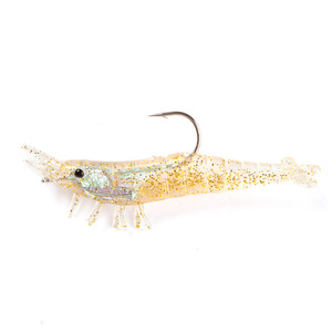Image 3 - 3 Pcs Shrimp Fishing Lures Soft Baits 90mm 10g Artificial Bionic Bait With Lead head Hook 3D Eyes Wobblers
