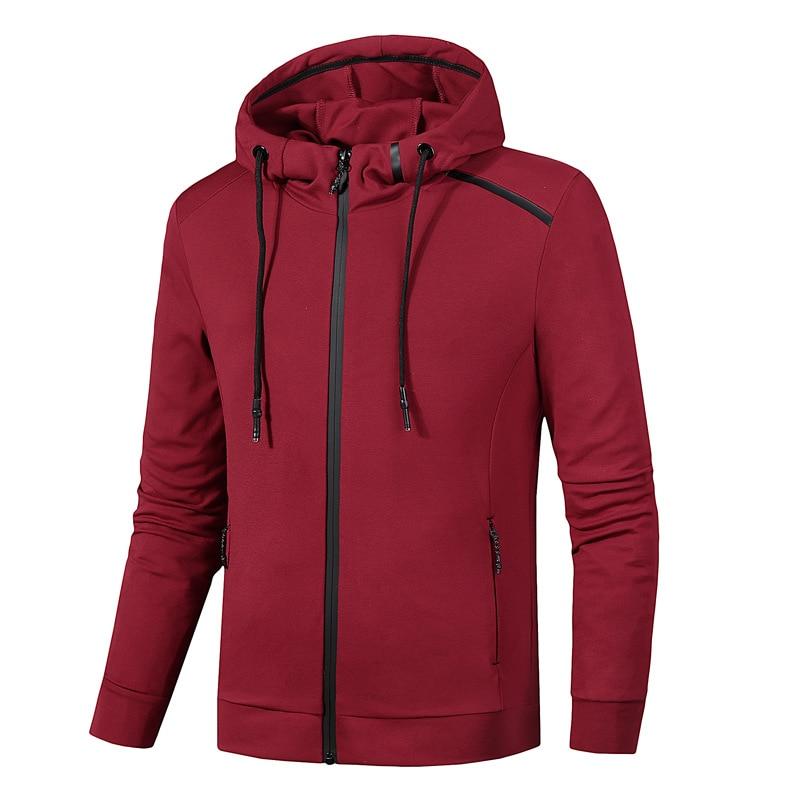 L-8XL Spring Autumn Jacket Hoodies Outwear Sports Suit Sweater Sweatshirt Sports Jersey Zip Up Male running fitness gym jacket