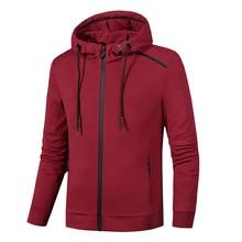 L-8XL Spring Autumn Jacket Hoodies Outwear Sports Suit Sweater Sweatshirt Jersey Zip Up Male running fitness gym jacket