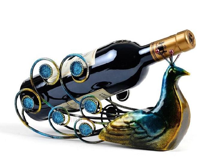 hot sale peacock wine holders wine rack bottle rack wine racks wine glass rackchina - Wine Racks For Sale