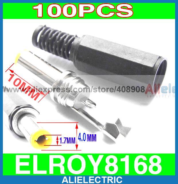 100pcs DIY 4mm x 1.7mm DC Power Plug Connector Cables100pcs DIY 4mm x 1.7mm DC Power Plug Connector Cables