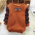 Venda quente Menino Cardigan Camisola Outono Inverno Xadrez Casaco Camisola 100% de Boa Qualidade Arco-nó Camisola 2 Cor YY0777