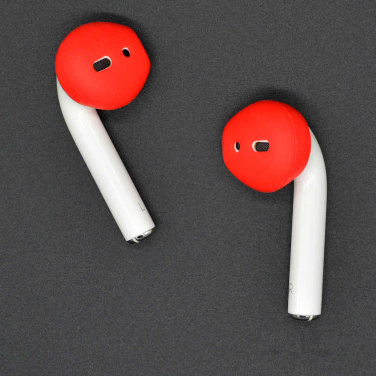 2 pares antideslizantes de silicona suave tapones de auriculares de recambio auriculares para Apple AirPods/iPhone 7/7 Plus auriculares