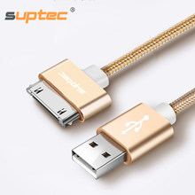 SUPTEC USB Cable for iPhone 4 s 4s 3GS iPad 2 3 iPod Nano touch Fast Charging 30 Pin Original Charge adapter Charger Data Cable(China)