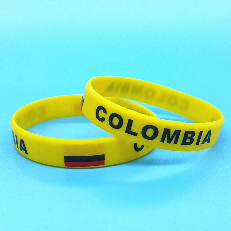 2pcs Colombia Flag Wrist...