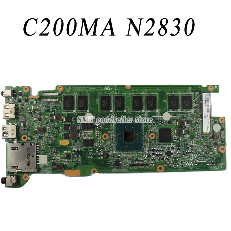 For Asus C200MA motherboard With N2830 Processor DA00C7MB6E0 REV:E Mainboard 100% work free shipping