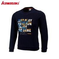 KAWASAKI Breathable Men's T-Shirt Long Sleeves Badminton Shirt Table Tennis T Shirts Sportswear High Quality LT-17182