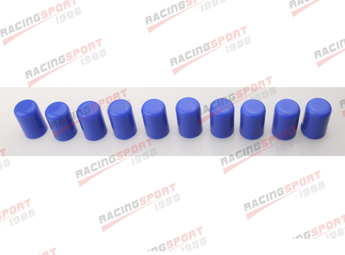 "10PCS 19mm 3//4/"" Silicone Blanking Cap Intake Vacuum Hose End Bung Plug Black"