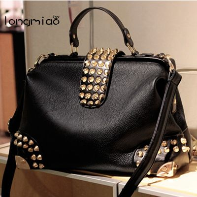 longmiao Women Bag 2017 New Luxe Brand Woman Handbag Fashion Black Handbag with