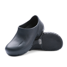 Black white hotel kitchen Chef Shoes restaurant Cook non-slip Slippers Work Oil-Proof Water-Proof for flat safety shoes