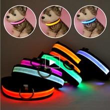 LED Nylon Pet Dog Collar Night Safety Glow Flashing Dog Cat Collar Led Luminous Small Dogs