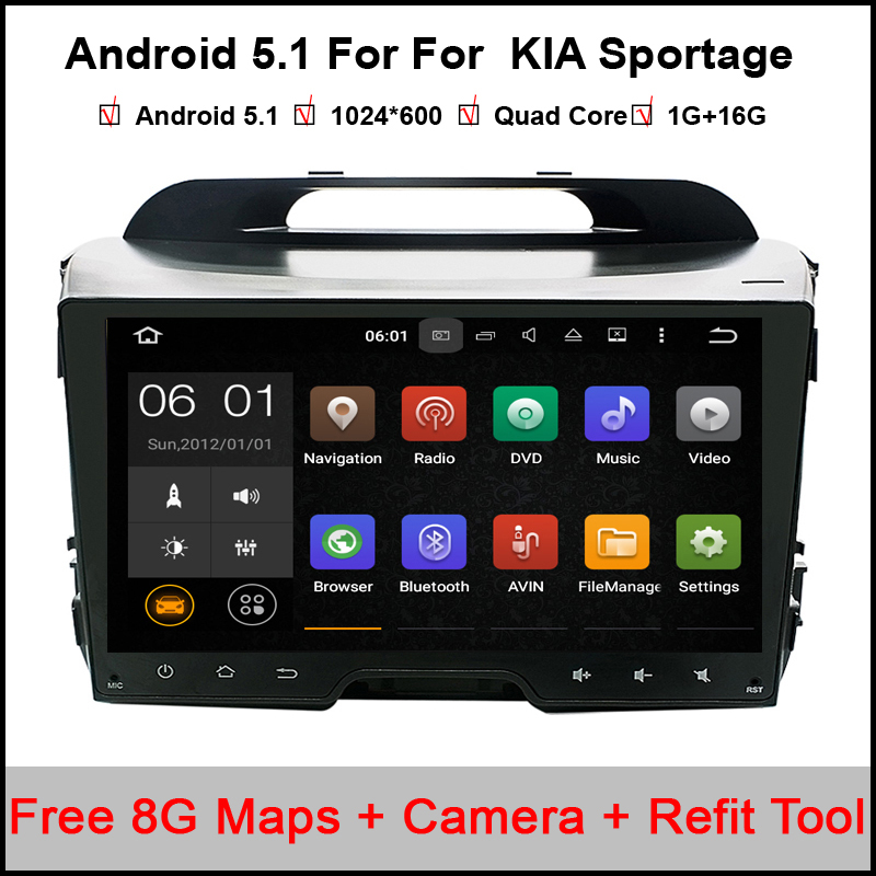 Pure Android 5.11 Quad Core Car DVD player for KIA sportage r/Sportage 2010 2014 2011 2012 2013 2015 radio BT car gps dvd player автомобильный dvd плеер hotaudio 4 4 4 kia sportage 2010 dvd gps navi dhl ems