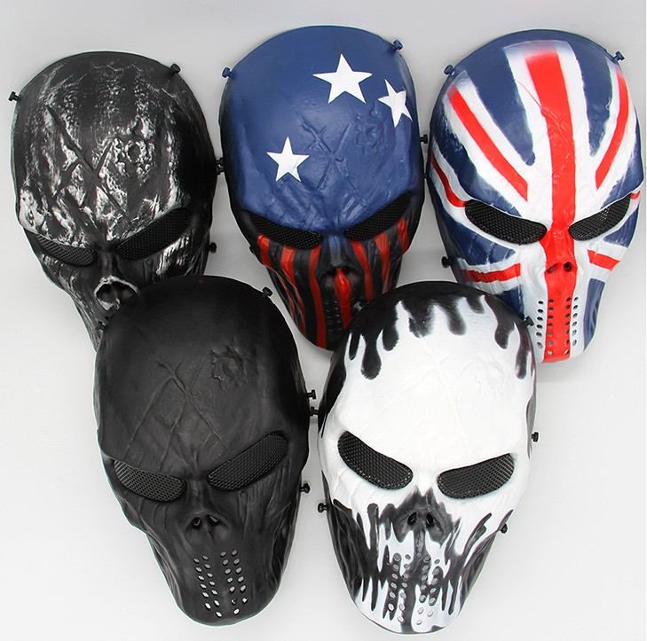 Special Forces CS Cosplay Mask Usa Skull Mask Gunfire Protect Tpu