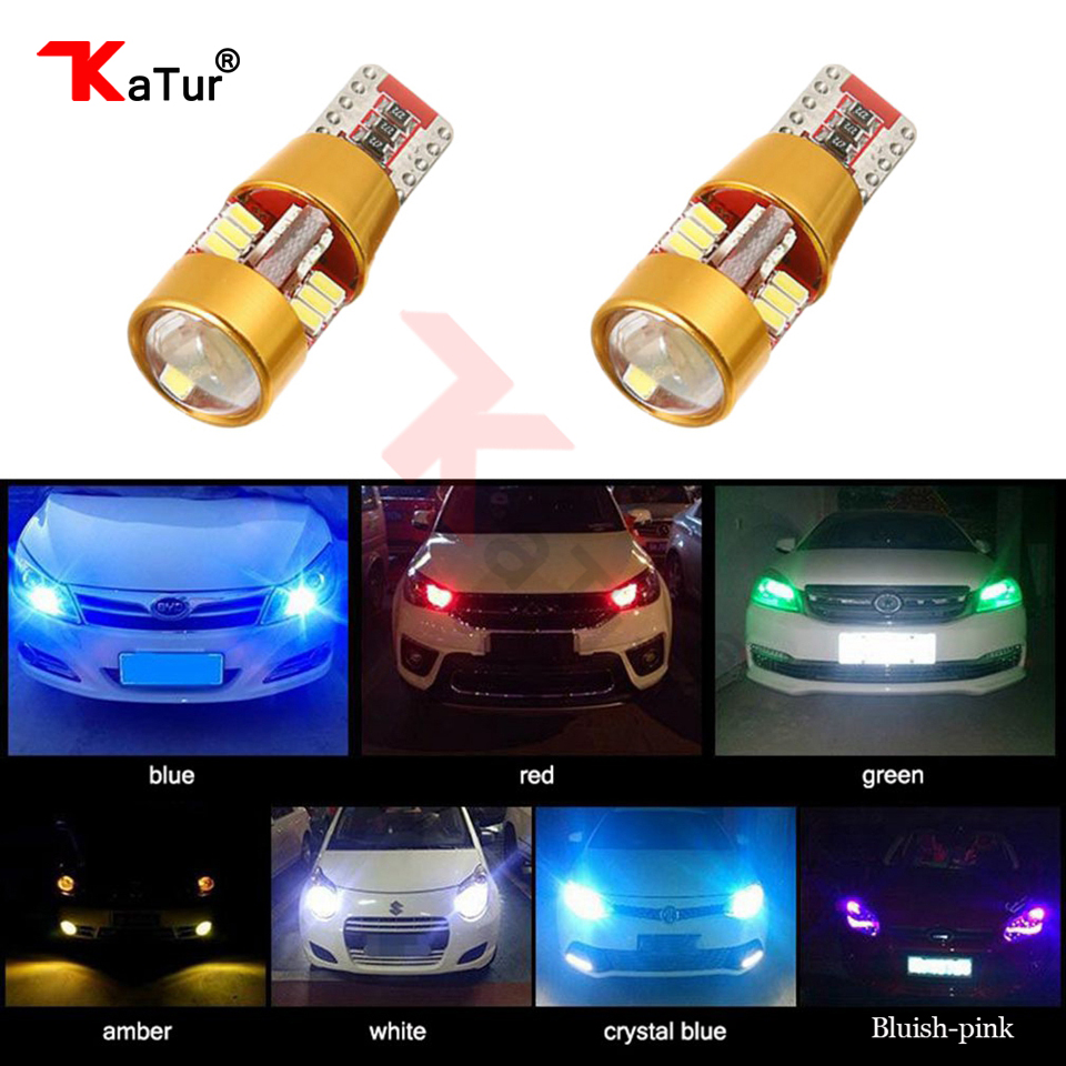 2Pcs T10 W5W No OBC Error CANBUS Error Free 27 Led Car Wedge Lamps Clearance Marker Side Dome Turn Reverse License Plate Lights