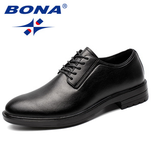 Image 1 - BONA New Arrival Classics Style Men Formal Shoes Microfiber Men Dress Shoes Lace Up Male Office Shoes Comfort Free Shipping