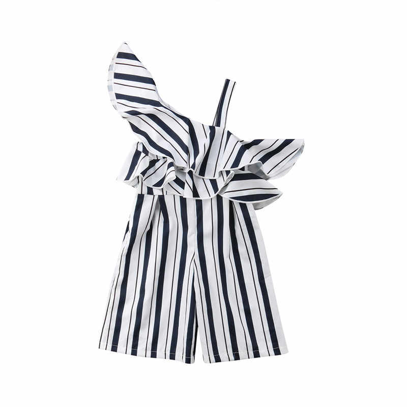bb6105182d1 Detail Feedback Questions about Korean Style Kids Girls Off Shoulder Ruffles  Striped Rompers Jumpsuit Palysuit Outfits 2018 Summer Children Girls  Clothing ...