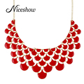 Red White Black Enamel Geometric Choker Statement Necklace Fashion Jewelry 2016 New Bijoux Gifts For Women