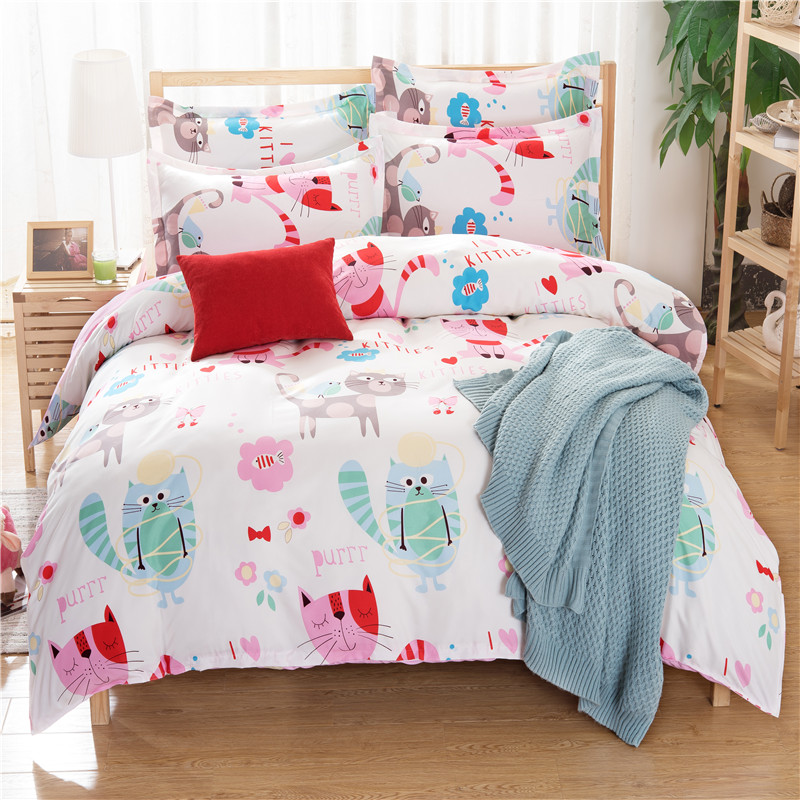 2016 New Arrival Free Shipping Bedding Set Pink Cute Small