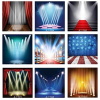8X8ft Custom Vinyl Cloth Photography Backdrops Red Curtain Stage Light Backdrop for Photo Studio Background Photo Shooting