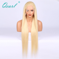 Qearl Hair Pure 613# Blonde Remy Human Hair Pre Plucked Full Lace Human Hair Wigs With Baby Hair Free Parting Remy 613 Humanhair