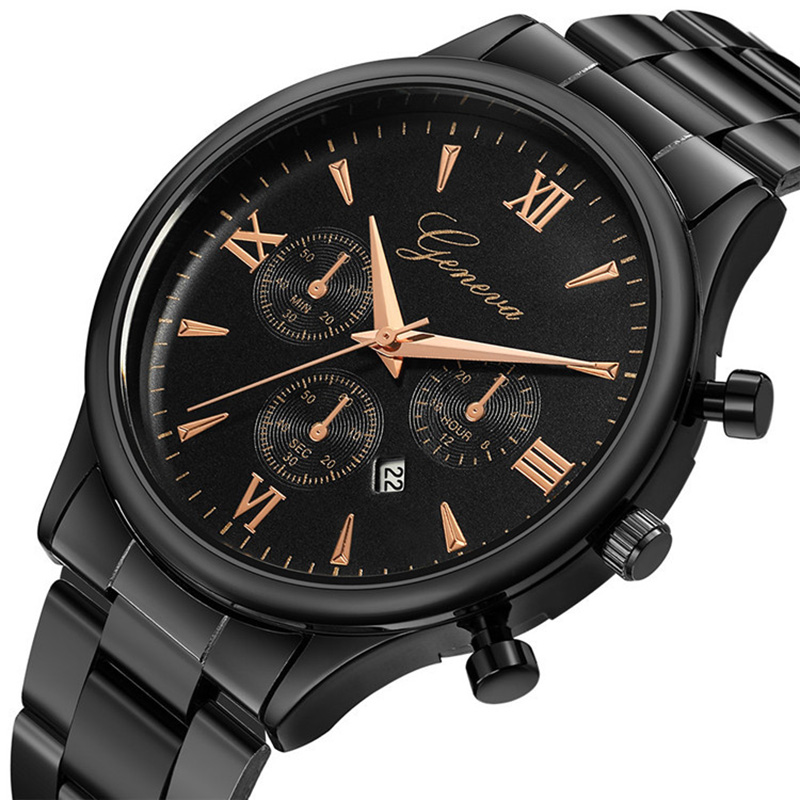 Men's Watches Luxury Top Brand GENEVA Male Clock Watch Men Quartz Watch Unique Designer Business Wristwatch 2019 Reloj Hombre