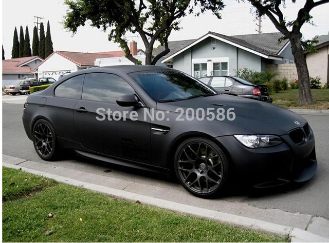 Matte Black Car Wrap >> High Quality Black Matte Vinyl Wrap Air Bubble Free Satin Matt Black