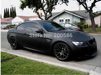 High Quality Black Matte Vinyl Wrap Air Bubble Free Satin Matt Black Foil Car Wrap Film Vehicle Sticker Like 3m 1.52x30m/Roll