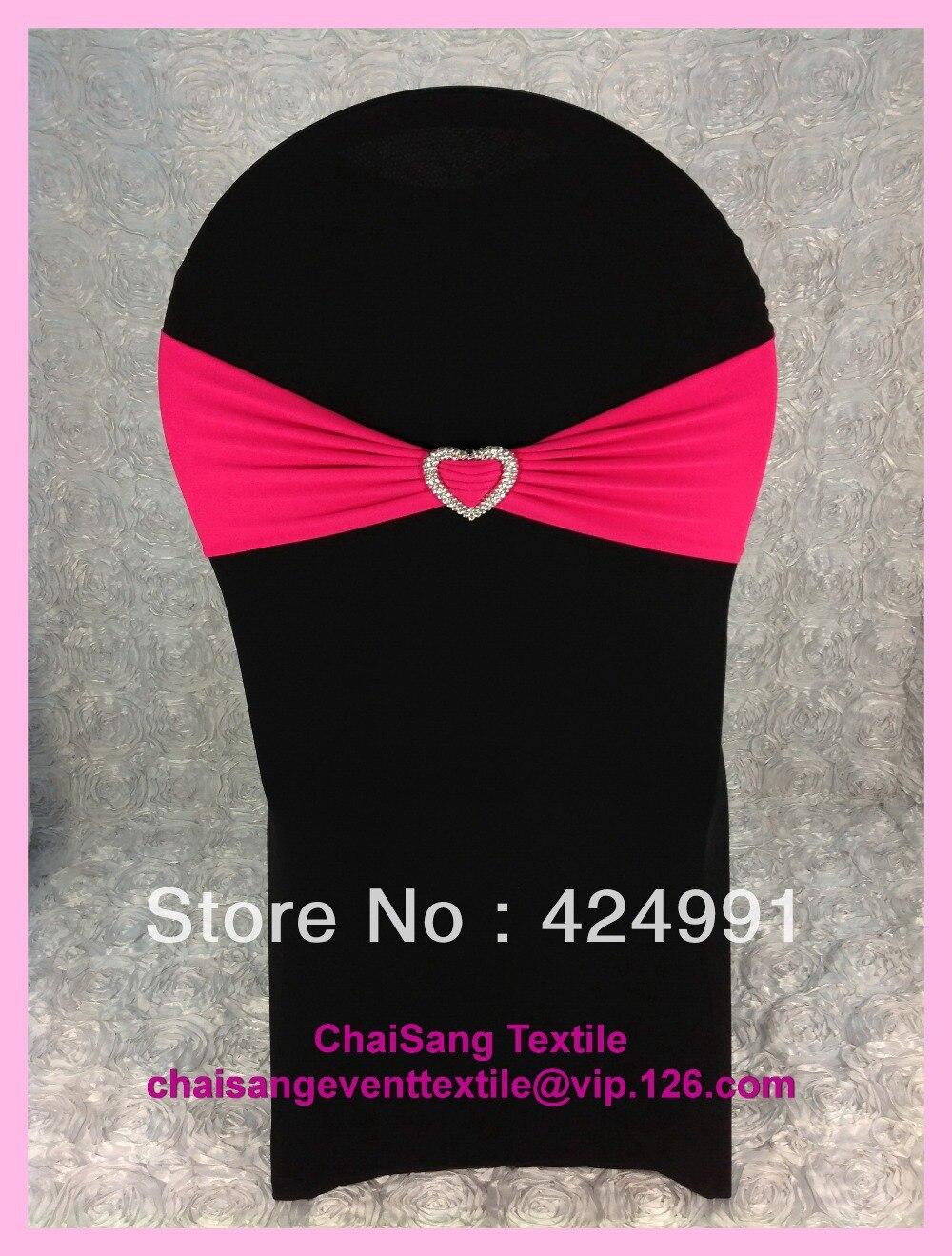 ④100 unids #21 Fuchsia Pink Lycra bandas silla y marco con forma de ...